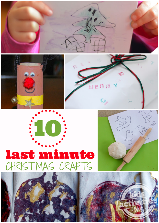 10 {Last Minute} Christmas Crafts