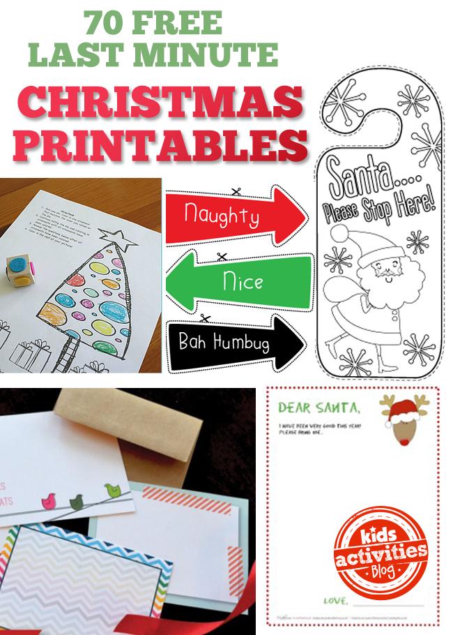 70 Free {Last Minute} Christmas Printables