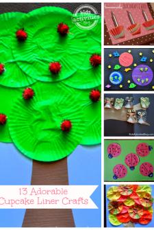 13 {Adorable} Cupcake Liner Crafts