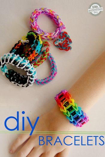 rainbow band bracelet tutorial for kids craft