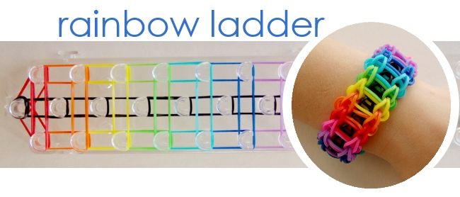 rainbow band bracelet tutorial for kids craft