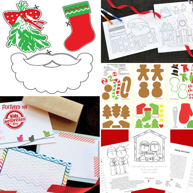 photograph about Home and Family Christmas Workbook identified as 70 No cost Xmas Printables