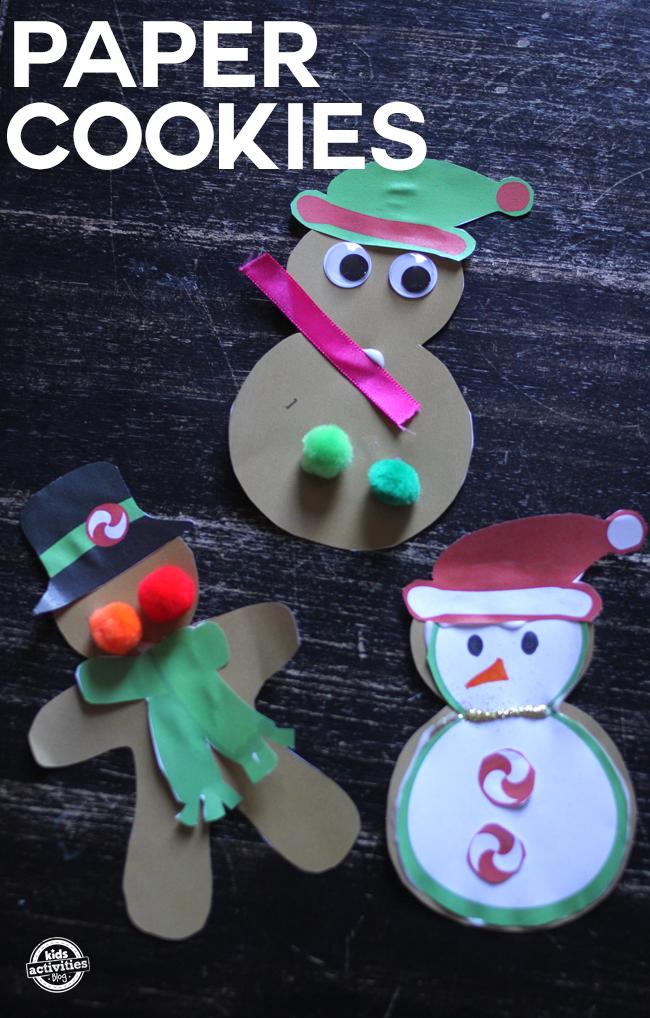 Impressions mignonnes de biscuits de Noël que vos enfants peuvent décorer