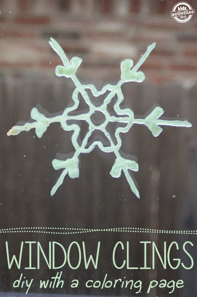 Snowflake Coloring Pages To Make Glow In The Dark Window