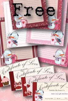 Free {Beautiful} Valentine Writing Paper Printable Set