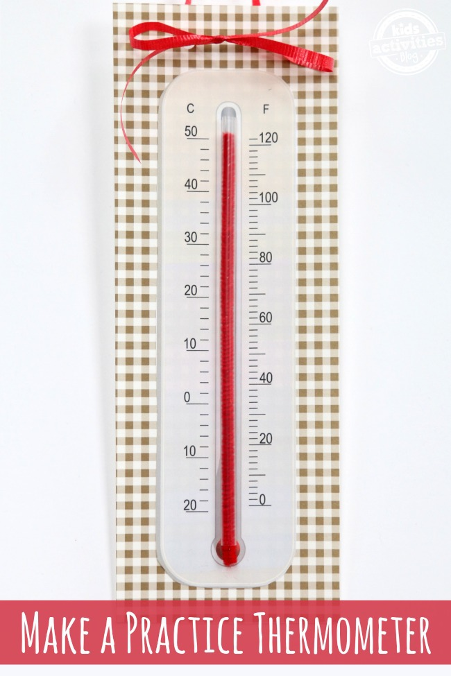 Make a Practice Thermometer - Kids Activities Blog