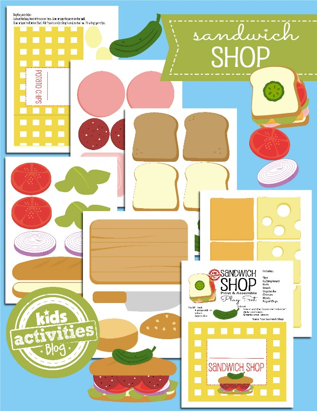 photo about Printable Toy identified as Printable Toys! Open up a Paper Sandwich Retail store