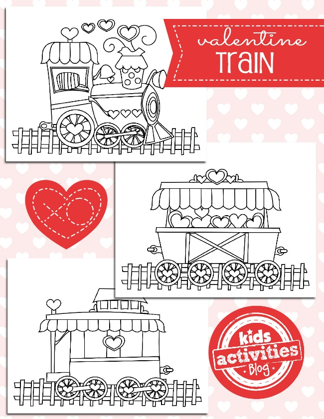 Valentine Train Coloring Pages - Kids Activities Blog