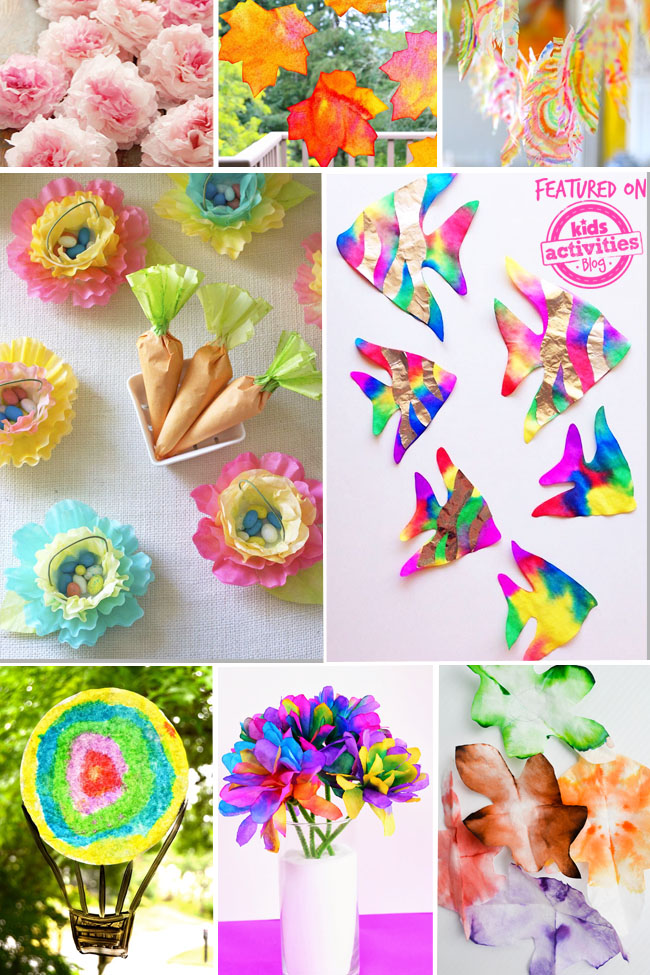 20 Amazing Coffee Filter Crafts