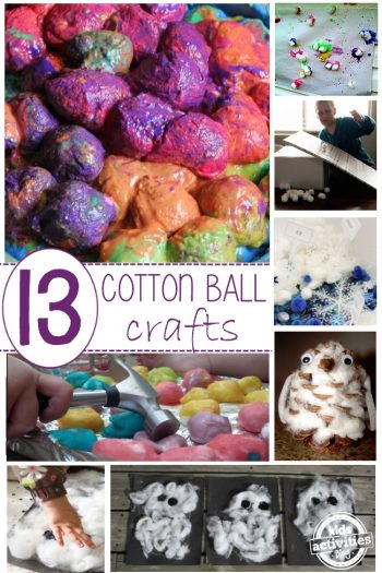cotton ball roundup of easy crafts for preschoolers