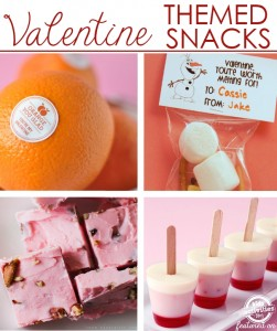 valentines of food