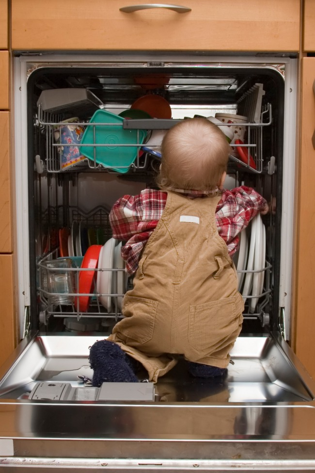 kids emptying the dishwasher - Kids Activities Blog