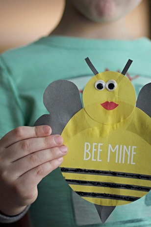 Bumblebee Valentine Craft with