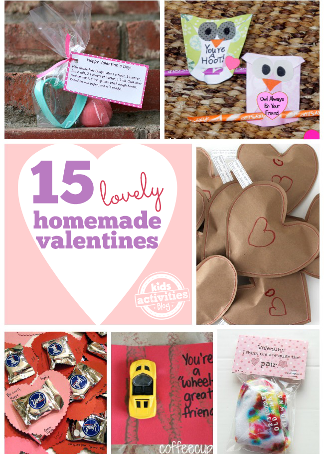15 {Lovely} Homemade Valentines