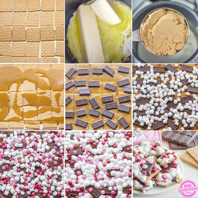 valentines day dessert smores bark