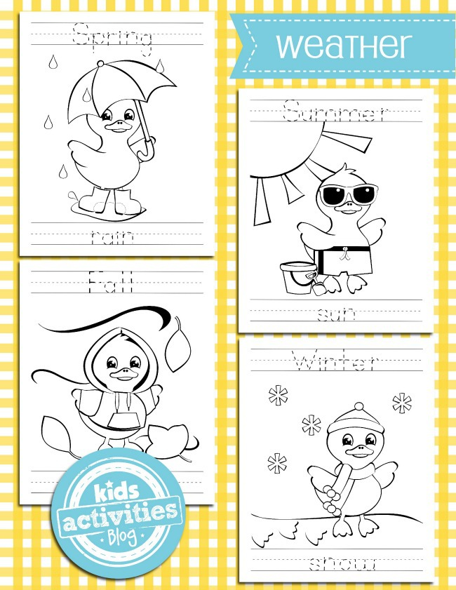 weather coloring pages for kids - Kids Activities Blog