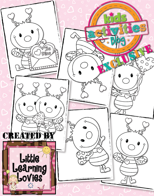 Free Love Bug Valentine's Day Coloring Pages