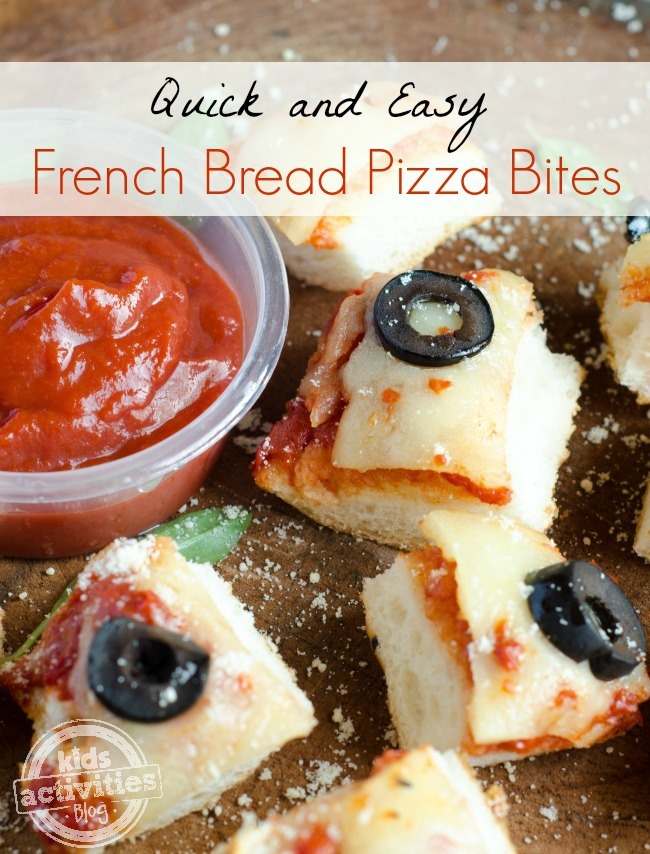 French bread pizza bites simple and fun french bread pizza bites easy family meal kids activities blog forumfinder Gallery