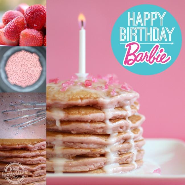 Joyeux anniversaire Barbie - Collage de crêpes roses - Blog d'activités pour enfants