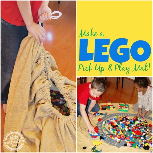 Make a LEGO Pick Up and Play Mat - Kids Activities Blog