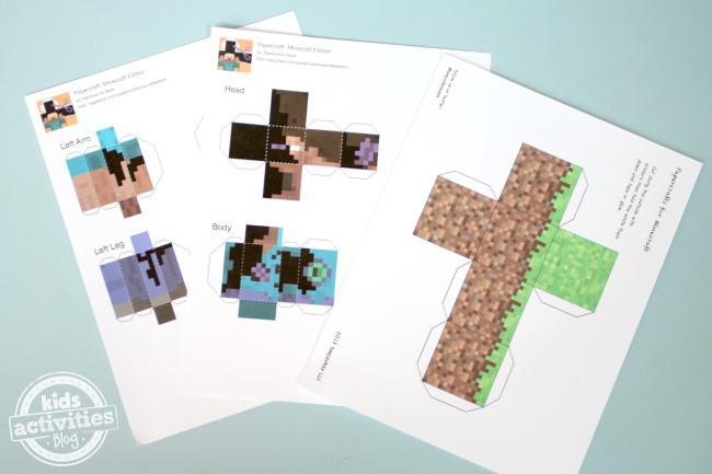 printable minecraft apps play in 3d On minecraft crafts for kids