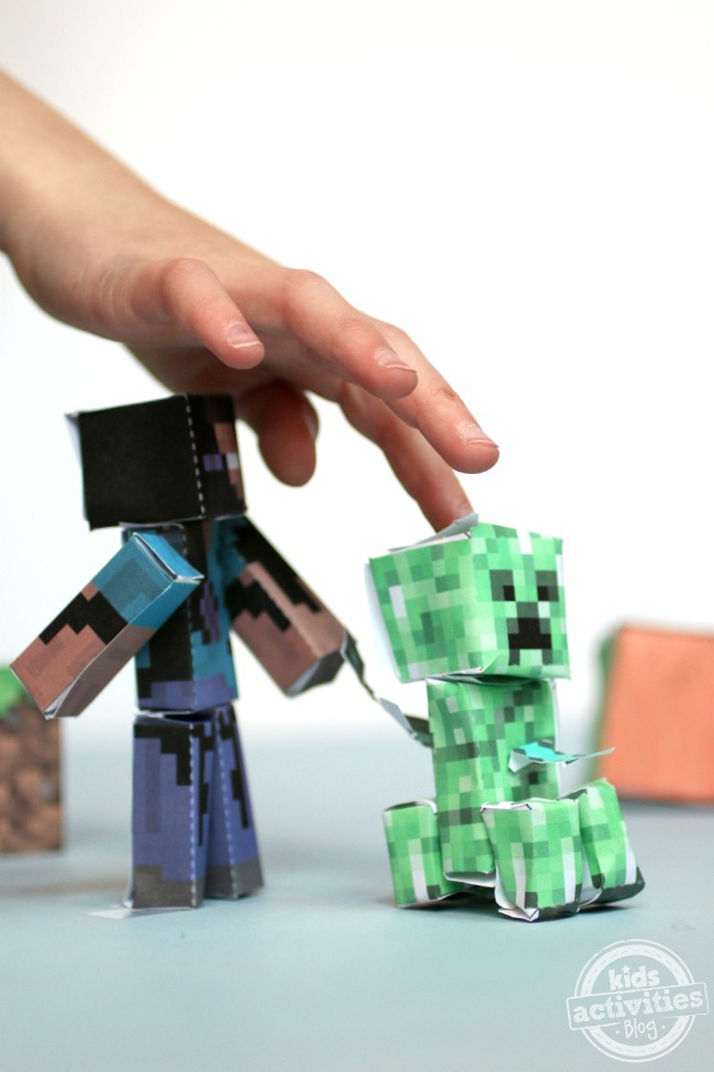 rainy day activities minecraft paper craft