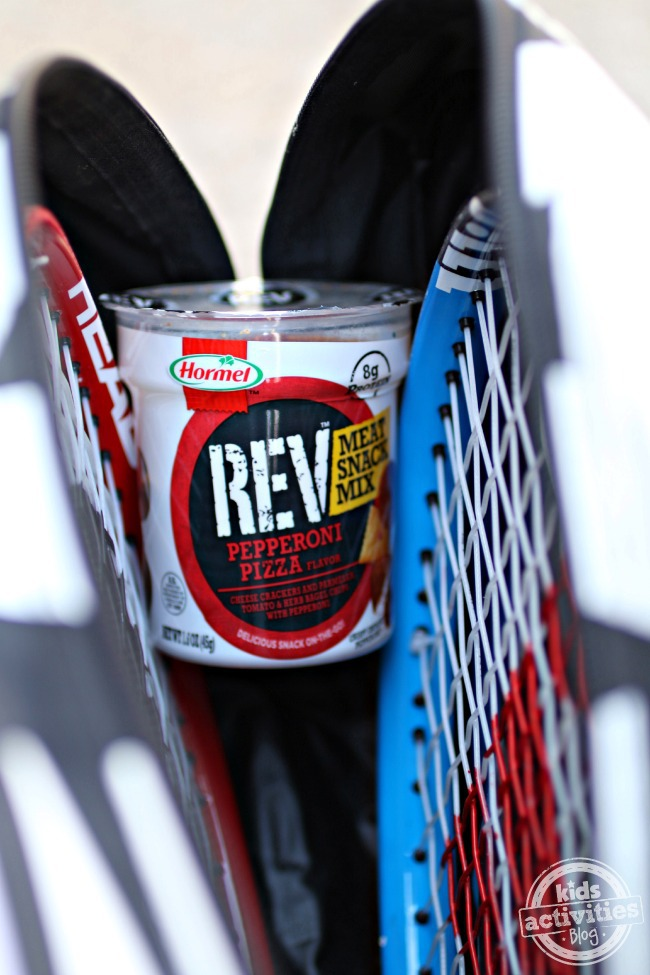 REV Meat Snack Mix in tennis bag - Kids Activities Blog