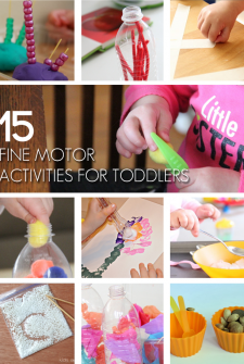 15 {Fun} Fine Motor Activities for Toddlers