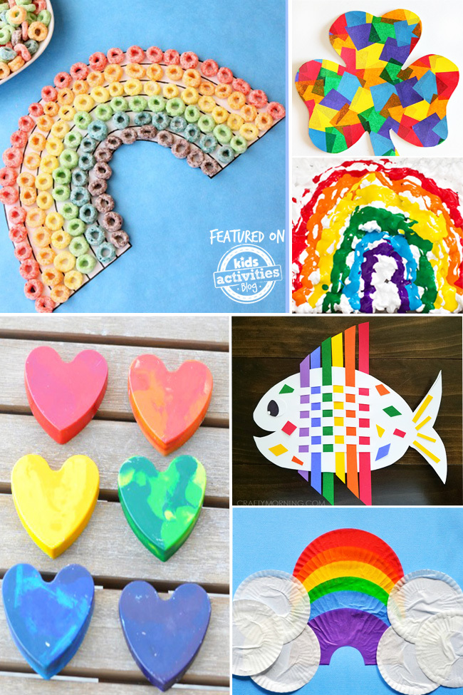 kids rainbow crafts