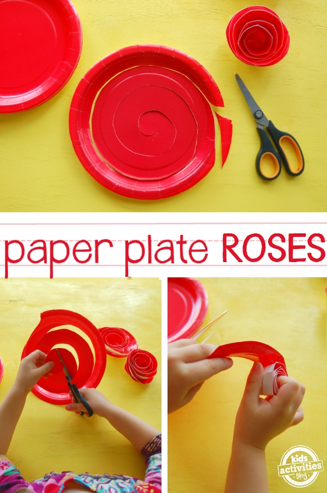 rose craft ideas how to make paper plate roses 2855