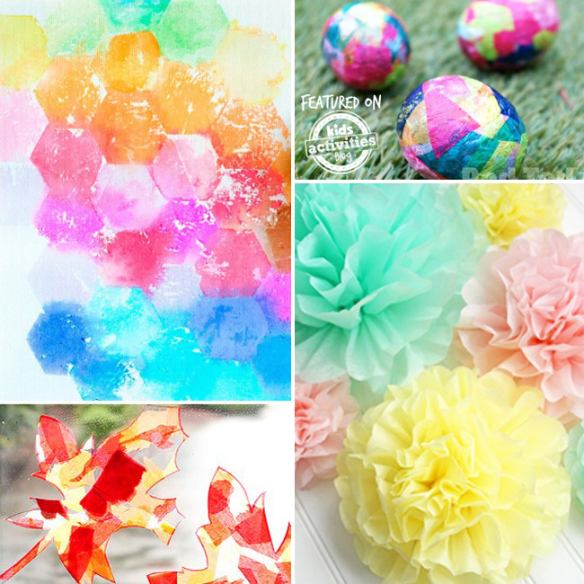 35 Adorable Tissue Paper Crafts To Try With Your Kids