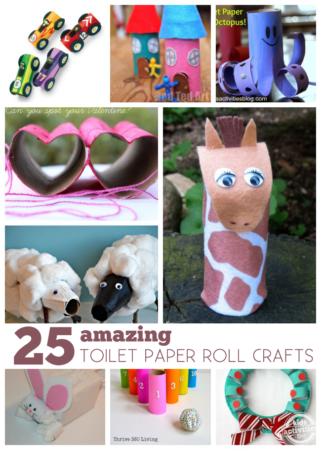 25 amazing toilet paper roll crafts kids activities