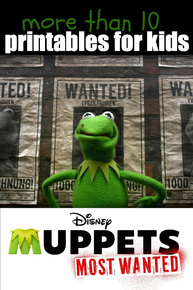 14 Printables for Kids from Muppets Most Wanted Movie - Kids Activities Blog.jpg