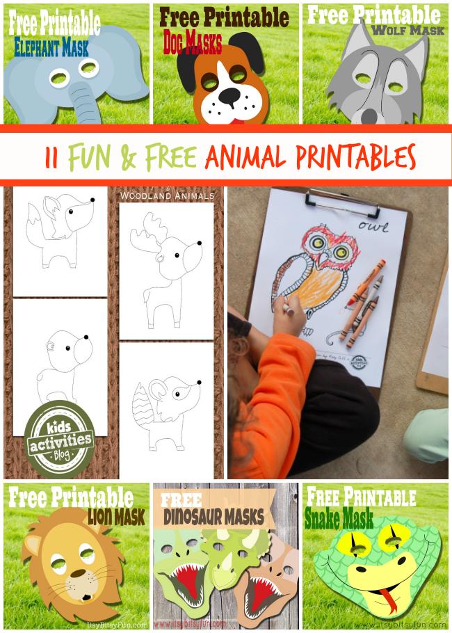 11 Fun and Free Animal Printables
