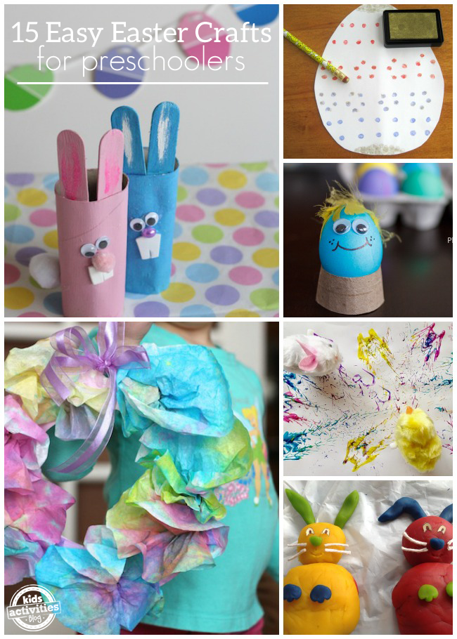 15 {Easy} Easter Crafts for Preschoolers