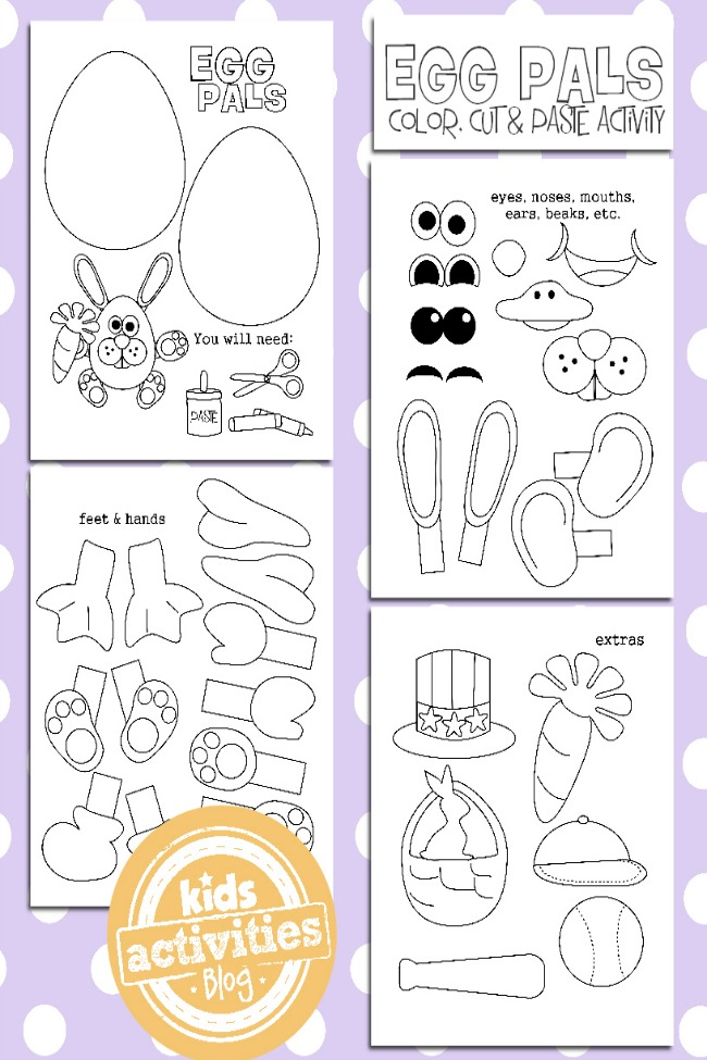 Easter Egg Coloring Pages Printable Craft For Kids