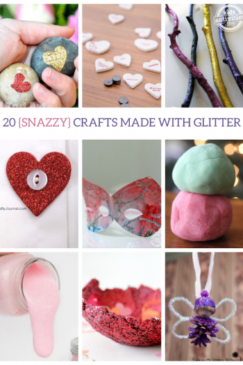 20 {Snazzy} Crafts Made with Glitter