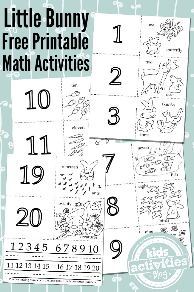 3 Fun and Adorable Math Activities From 1 Free Kids Printable