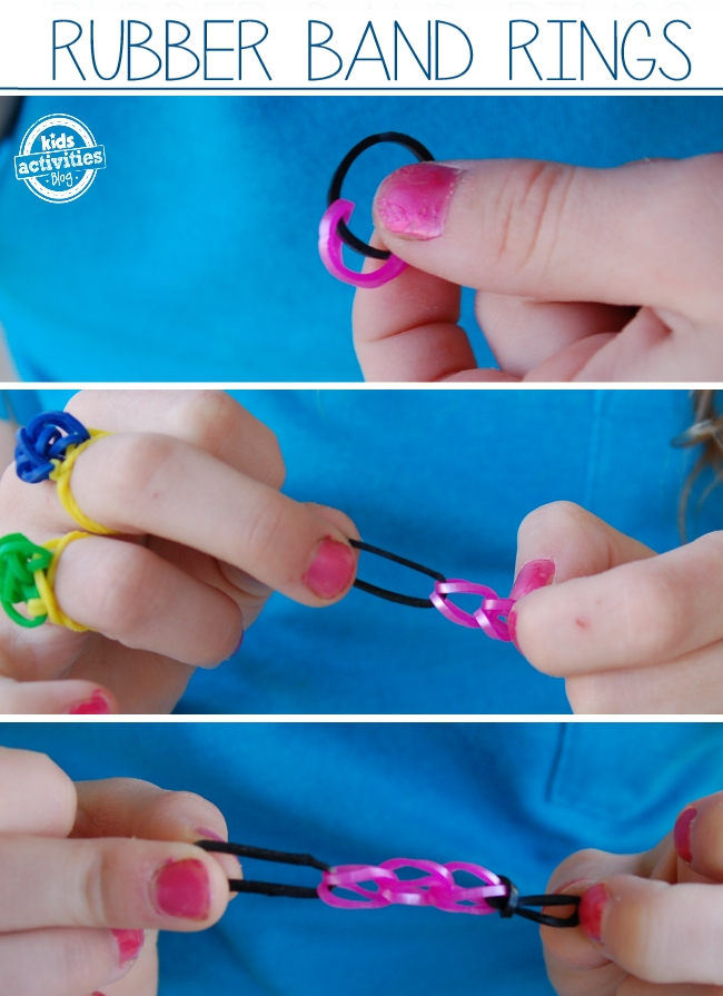 Rianbow loom band ring
