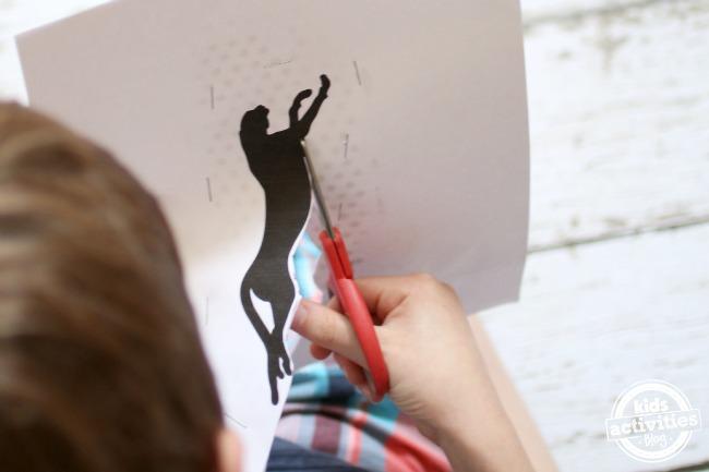cutting around cheetah - Kids Activities Blog