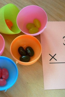 multiplication activity using jelly beans