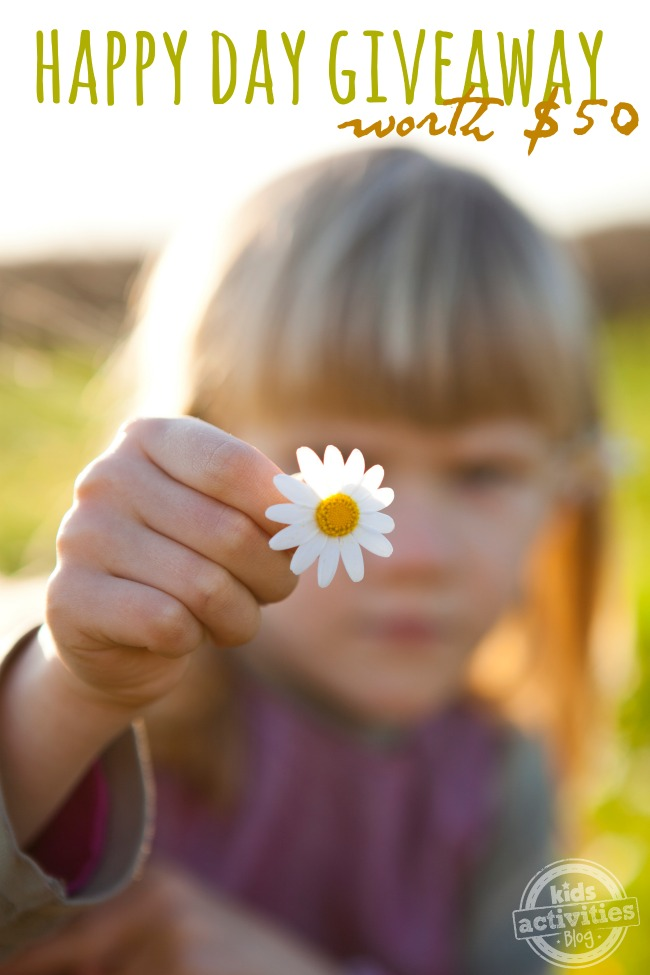 happy day giveaway - spring - Kids Activities Blog