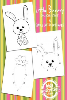 Simple Bunny Coloring Pages for Easter