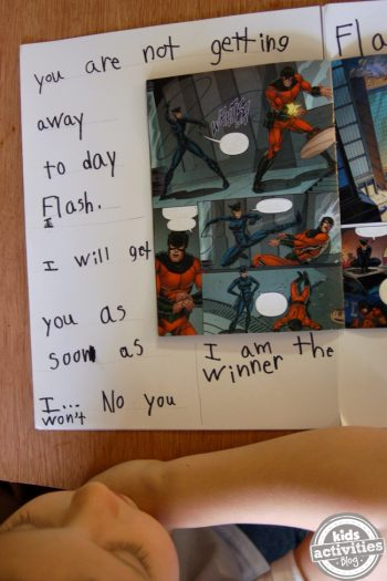comic book writing activity