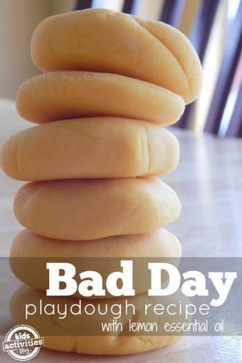 Bad Day Playdough with Lemon Essential Oil