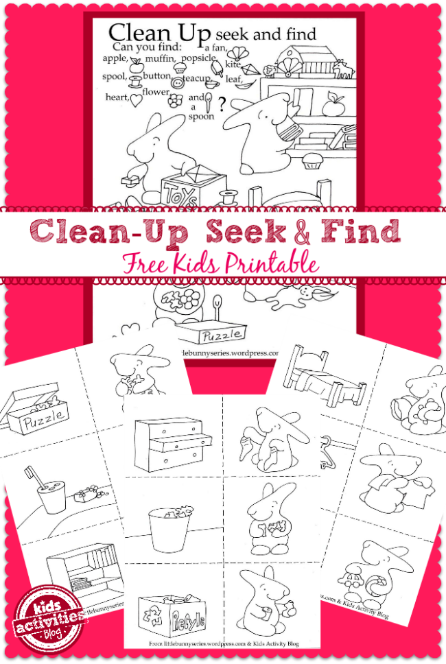 picture relating to Seek and Find Printable titled Refreshing-Up Year Cost-free Children Printables