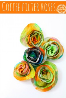 Coffee Filter Crafts {Roses}