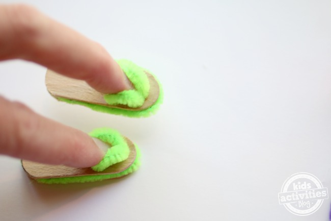 Craft Stick Flip Flop Craft Walking - Kids Activities Blog