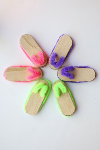 Craft Stick Flip Flops Feature - Kids Activities Blog