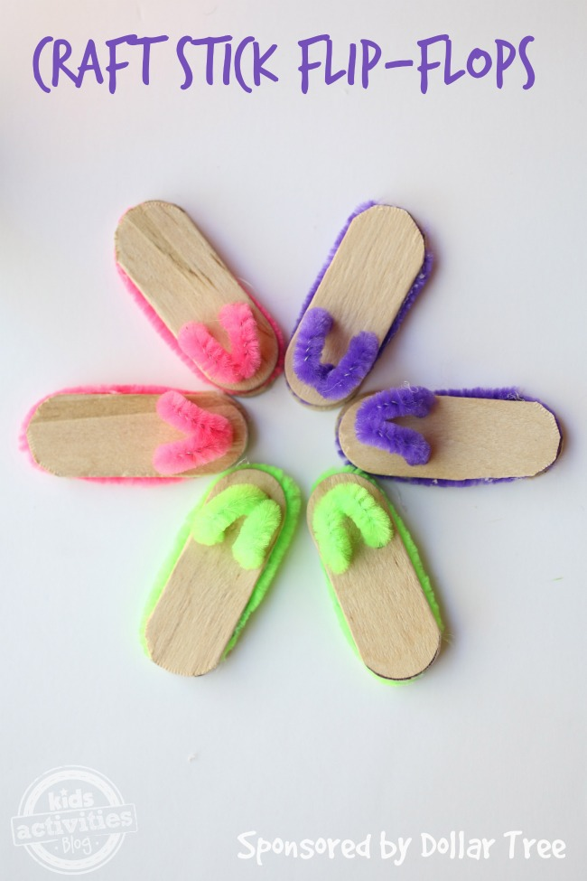 Craft Stick Flip-Flops - Kids Activities Blog